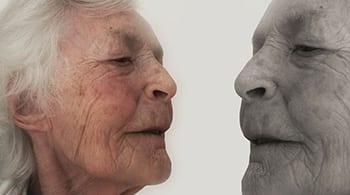 צילום פרופיל של אדם מבוגר
