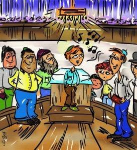 תמונה של תלמידים שרים